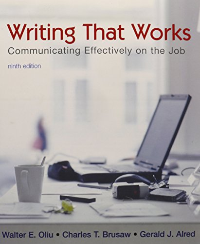 Writing that Works 9e & ix for tech comm(book & cd)