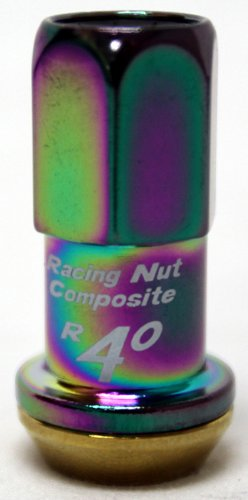 Kics 31876NKCA R40 Revo Neo Chrome (12mm x 1.5 Thread Size) Lug Nut, (Set of 20)