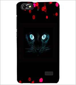PrintDhaba Cat Eyes D-2828 Back Case Cover for HUAWEI HONOR 4C (Multi-Coloured)