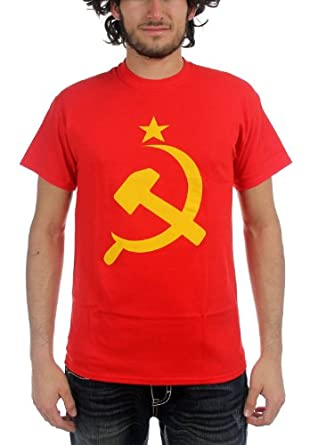 Price Busters - Hammer And Sickle Adult T-Shirt, X-Large, Red