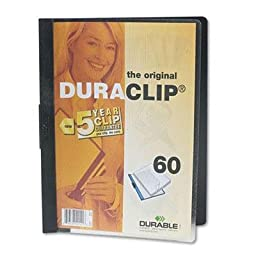 Durable - 8 Pack - Vinyl Duraclip Report Cover W/Clip Letter Holds 60 Pages Clear/Black \