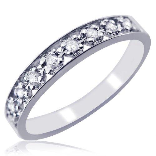 Wedding Rings for Women Sale 0 11ct Pave Set Diamond Wedding Anniversary Ban
