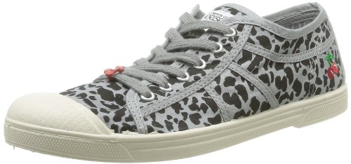 Le Temps des Cerises  Basic 02,  Sneaker donna Grigio Gris (Leopard Grey) 40