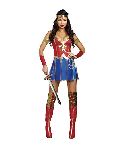 [Dreamgirl Women's Power Of Justice Costume, Multi, Small] (Woman Costume 2016)