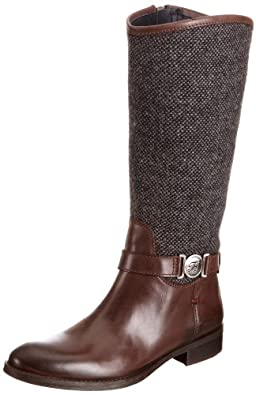 Tommy Hilfiger Women's Hamilton 3 C Dark Brown/Tweed Mid Calf Boots FW56814726 4 UK, 37 EU