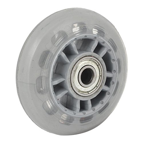 SODIAL(R) Skating Shoes 608ZZ Bearing Inline Skate Wheel Clear Gray