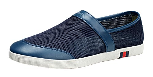 FreeRun Men's Breathable Shoes Slip-on Breathable Net Shoes(7 D(M)US, darkblue)