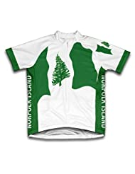 Norfolk Island Flag Short Sleeve Cycling Jersey for Women