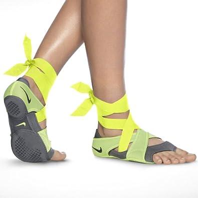 Nike Women's Studio Wrap Pack Ballet Shoes-Dark Gray/Volt-7   Amazon