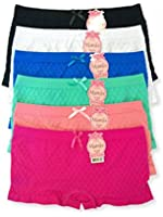 MAMIA Women Seamless Stretch Boy Shorts Panties Various Styles (Pack of 6)