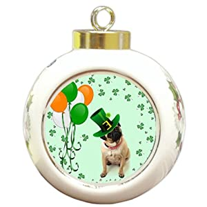 Pug Dog Christmas Holiday Ornament