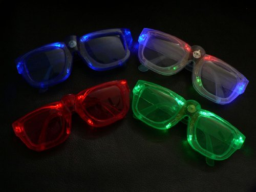 Light up LED Shades Multicolor Malibu Sunglasses 1 pair Assorted