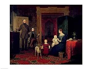 Portrait of the Van Cortland Family, c.1830'' - Poster (24x18)