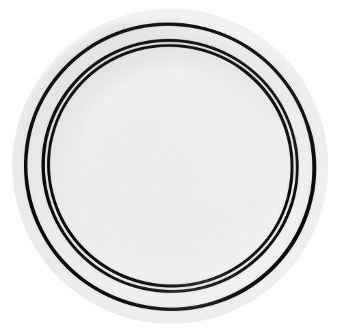 Corelle Livingware 8-1/2-Inch Luncheon Plate, Classic Cafe Black (6 Plates)