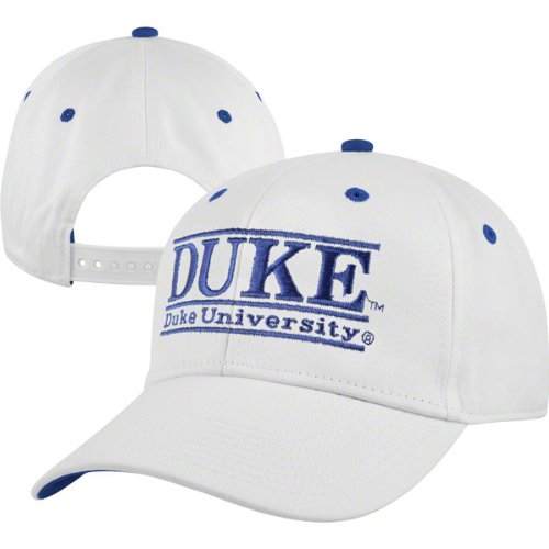 NCAA Duke Blue Devils The Game Classic Bar Adjustable Cap, White/Blue at Amazon.com
