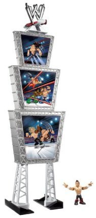 WWE Rumblers Evan Bourne Figure Deluxe Triple Titantron Launcher - 1