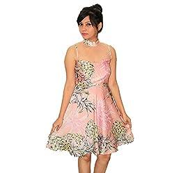 Nitra Women's Bubble hem Dress_DRPK_Pink_M