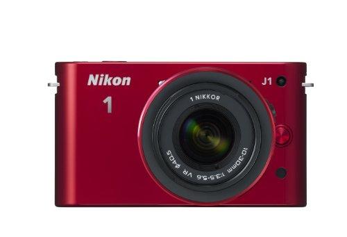 Nikon デジタル一眼カメラ Nikon 1 (ニコンワン) J1 (ジェイワン) 標準ズームレンズキット レッドN1 J1HLK RD