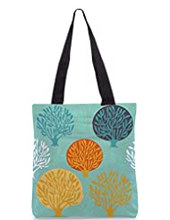 Snoogg Seamless Pattern With Leaf Designer Poly Canvas Tote Bag - B012FZ1QC8