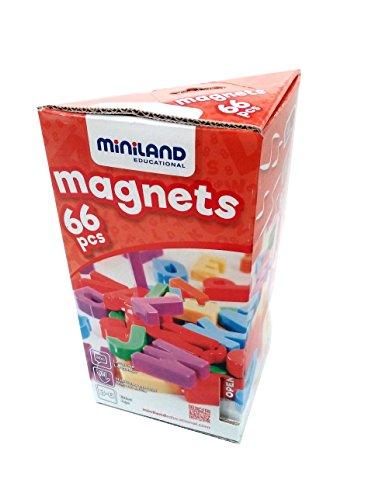 Miniland - Letras magnéticas Mayúsculas, 66 piezas (45312)