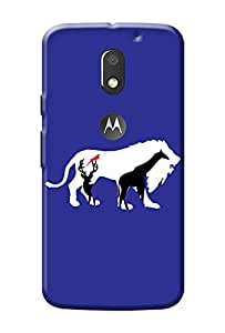 Moto E3 3rd Gen Power Cover Premium Quality Designer Printed 3D Lightweight Slim Matte Finish Hard Case Back Cover for Moto E3 3rd Gen + Free Mobile Viewing Stand