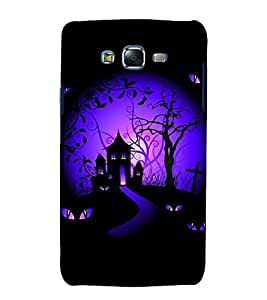 printtech Scary House Eyes Back Case Cover for Samsung Galaxy J7 (2016 EDITION)