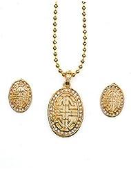 Asian Pearls & Jewels Designer Pendant Set - B00NME690G