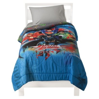 Justice League Comforter and Sheet Bedding Set