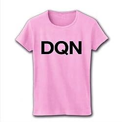 【ドキュン!】レッテルシリーズ DQN リブクルーネックTシャツ(ライトピンク) M