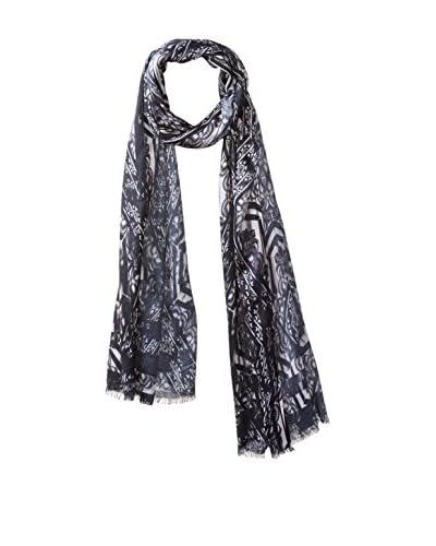 Juma Women's Patterned Wrap Scarf, Black