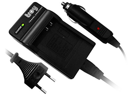 Troy-Akku Ladegerät für Sony NP-BG1 NP-FG1 für Cybershot DSC H3 H7 H9 H10 H20 H50 HX5V N1 N2 T20 T25 T100 W27 W30 W35 W40 W50 W55 W70 W80 W80HDPR W85 W90 W100 W110 W115 W120 W130 W150 W170 W200 W210