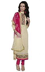 Nirali Womens Cotton Dress Material (Jayvijay 2632 Rjvcj -Beige -Free Size)
