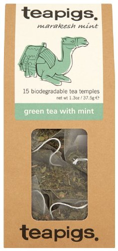Teapigs Marakesh Mint Green Tea with Mint 37.5 g (Pack of 1, Total 15 Tea Bags)