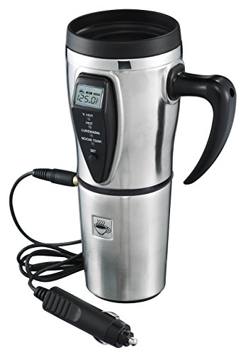 Stainless Steel Electric Smart Mug with Temperature Control (Tech Tools Coffee Mug compare prices)