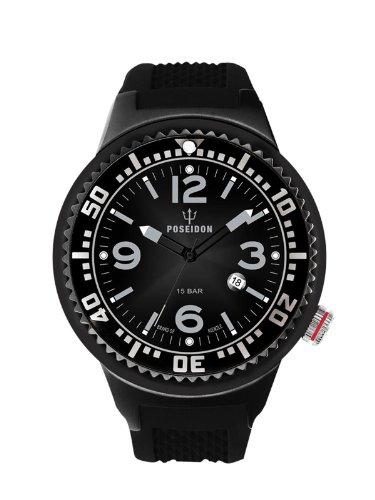 Kienzle K2093043103-00406 - Reloj analógico de cuarzo para hombre con correa de silicona, color negro