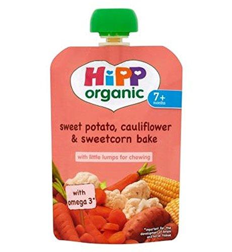 Hipp Organique Patate Douce, Le Chou-Fleur Et Le Maïs Doux Pâtisseries 7+ Mois 130G - Lot De 6