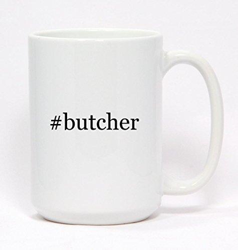 #butcher - Hashtag Ceramic Coffee Mug 15oz (Butcher Coffee Cup compare prices)