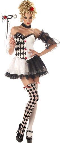 Women's Le Belle Harlequin Halloween Costume Large