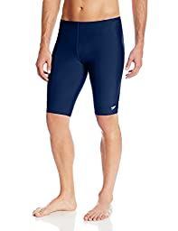 Speedo Men\'s Endurance+ Solid Jammer Swimsuit, Navy, 34