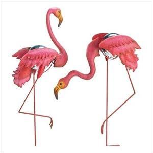 Amazon com flamingo gazing ball garden stakes 38858 home amp kitchen
