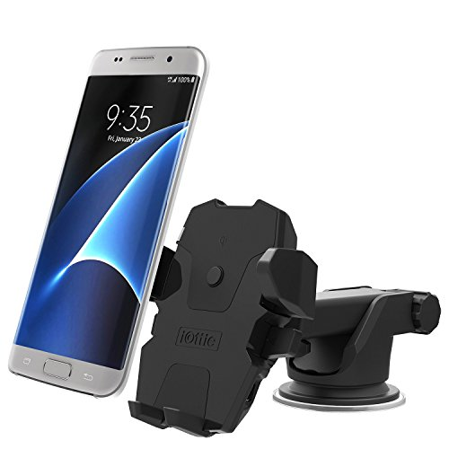 iOttie HLCRIO132 Easy One Touch Wireless Qi Standard Car Mount Charger for Qi Enabled Devices - Standard Packaging - Black (Ottie Car Mount compare prices)