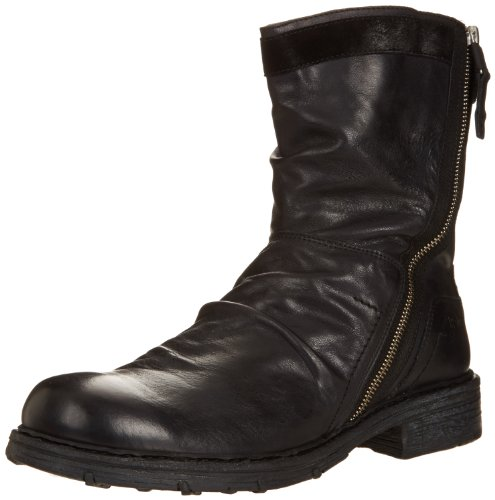 Just Cavalli Men's Interior Grommet Combat Boot,Black,40 EU/7 M US