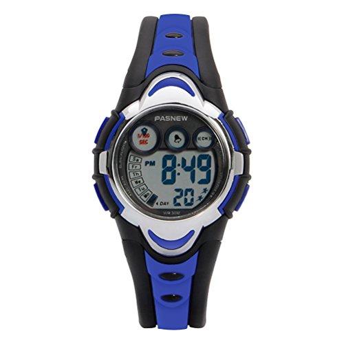 HIwatch Youth Waterproof Watch Digital Sports Watch with Alarm Stopwatch for Kids Girls Boys Stopwatch Dark Blue