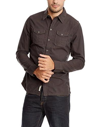 PAUL STRAGAS Camisa Hombre Marrón