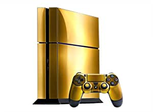 Amazon.com: Sony PlayStation 4 Skin (PS4) - NEW - BRUSHED GOLD system skins faceplate decal mod