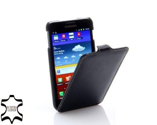 Stilgut Exklusive Ledertasche Ultraslim für Samsung Galaxy Note N7000 in Schwarz