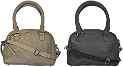 Ur Class Women's Handbags (UC_10 + UC_11,Black and Grey)