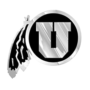 Buy NCAA Utah Utes Chrome Automobile Emblem by Team ProMark