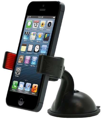 Aduro U-GRIP Universal Dashboard Windshield Car Mount for Smart Phones, Apple iPhone 5, iPhone 4 / 4S, Samsung Galaxy S2 / S3, Galaxy NOTE, Motorola Droid RAZR / MAXX, HTC EVO 4G, HTC One X, LG, (Black)