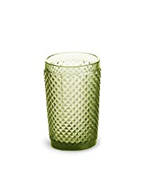 Rosanna Pressed Glass Olive Highball Set of 4